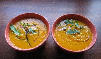 ginger, apple, pumpkin soup